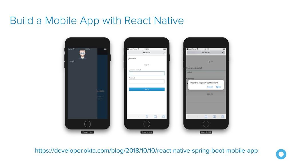 Build a Mobile App with React Native https://de...