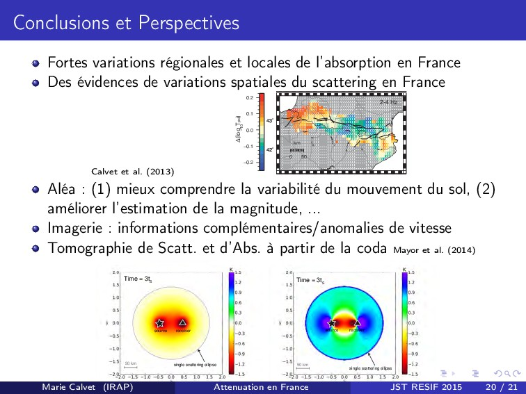 Conclusions et Perspectives Fortes variations r...