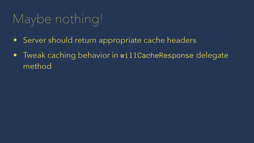 Maybe nothing! • Server should return appropria...