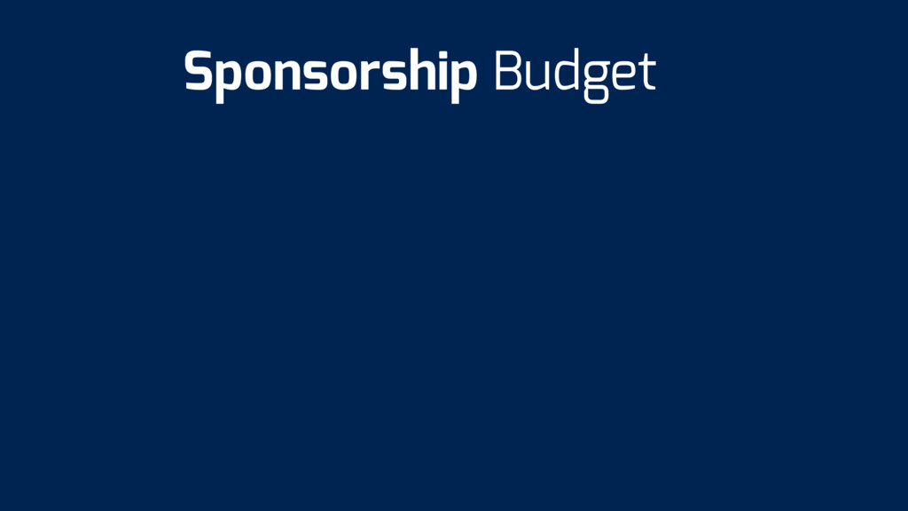 Sponsorship Budget