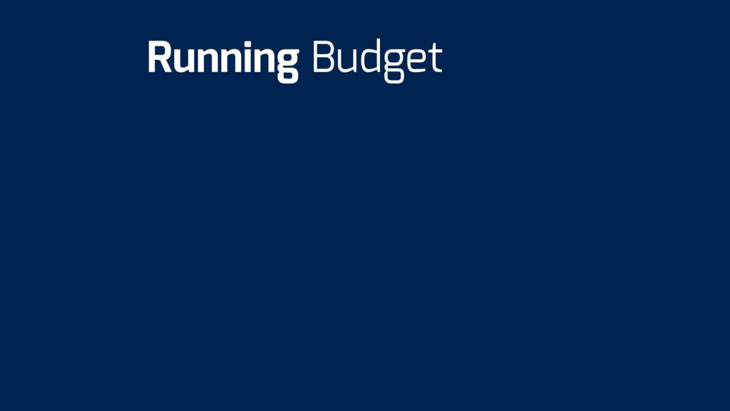 Running Budget