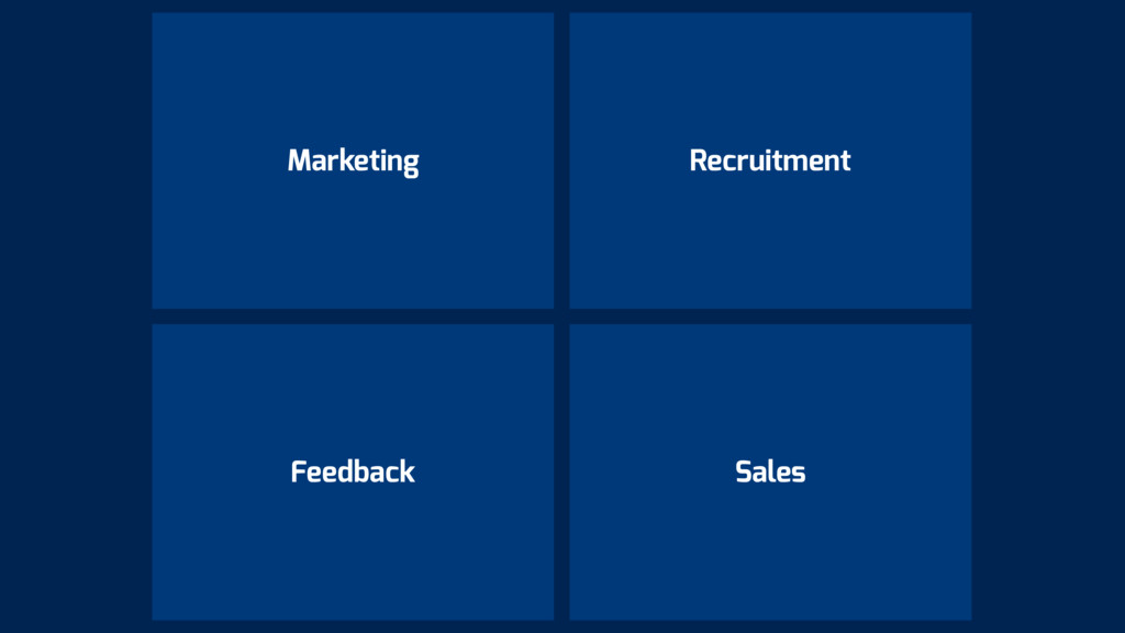 Marketing Recruitment Sales Feedback