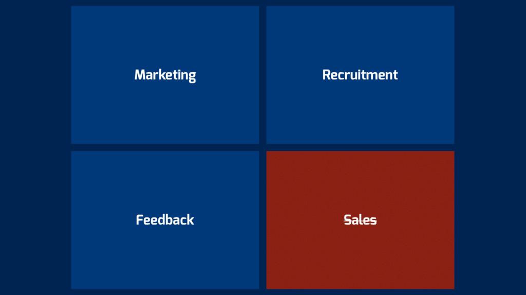 Marketing Sales Recruitment Feedback