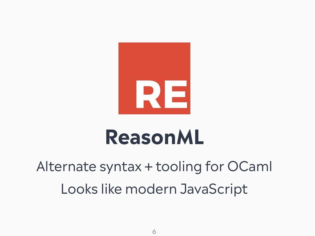 ! 6 ReasonML Alternate syntax + tooling for OCa...