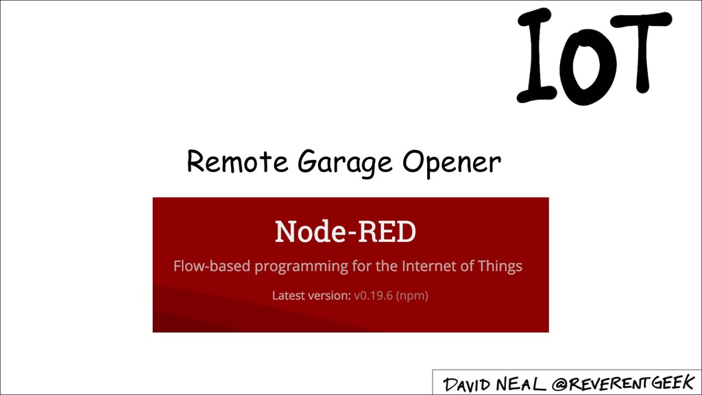 Remote Garage Opener