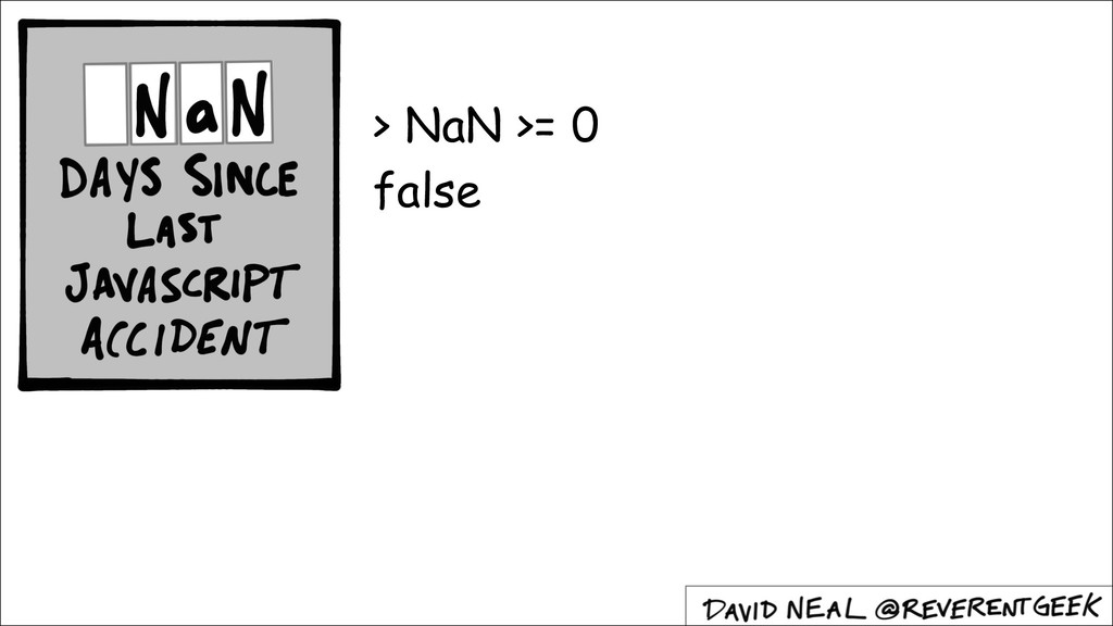 > NaN >= 0 false