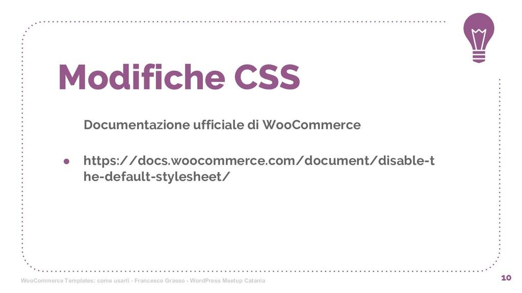 Modifiche CSS Documentazione ufficiale di WooCo...