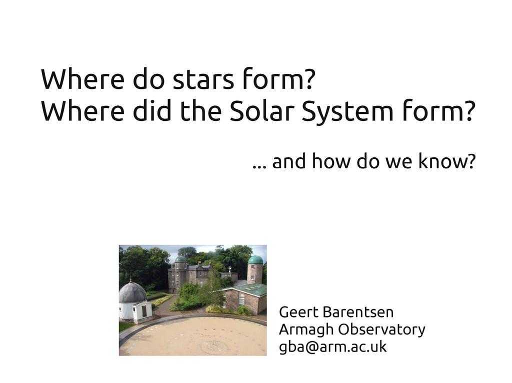 Geert Barentsen Armagh Observatory gba@arm.ac.u...