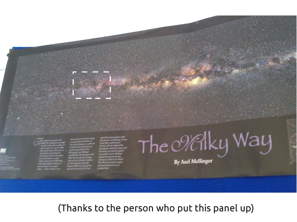 (Thanks to the person who put this panel up)