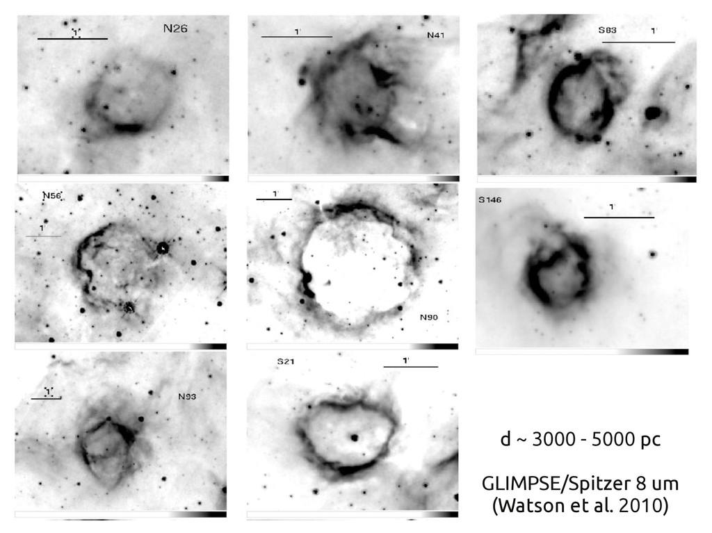 d ~ 3000 - 5000 pc GLIMPSE/Spitzer 8 um (Watson...