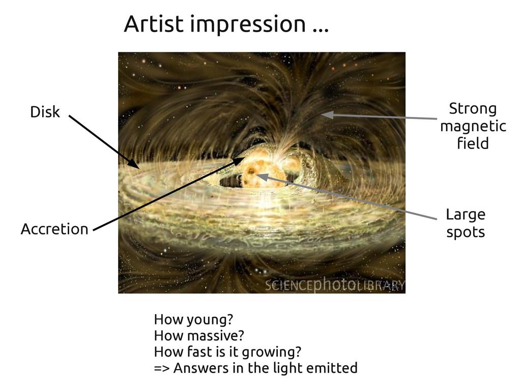 Artist impression ... Disk Strong magnetic fiel...