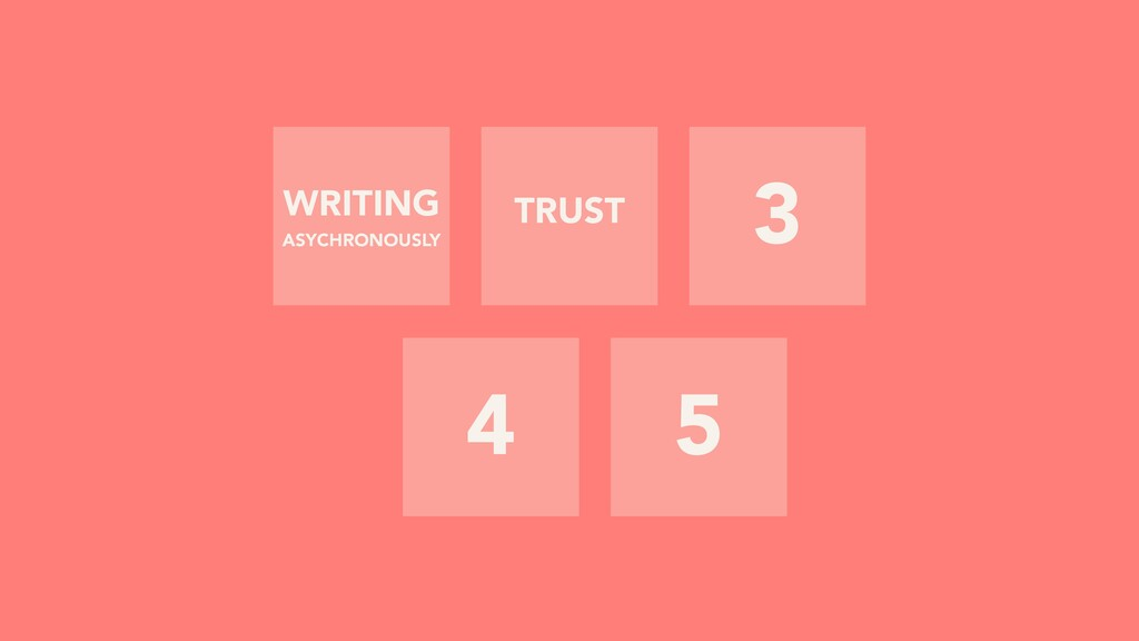 3 4 5 TRUST WRITING ASYCHRONOUSLY