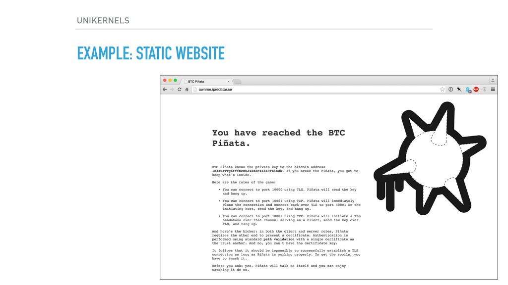 EXAMPLE: STATIC WEBSITE UNIKERNELS