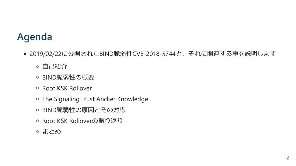 Agenda 2019/02/22に公開されたBIND脆弱性CVE-2018-5744と、それ...