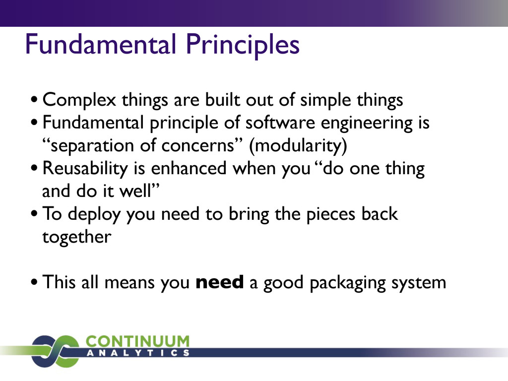 Fundamental Principles •Complex things are buil...