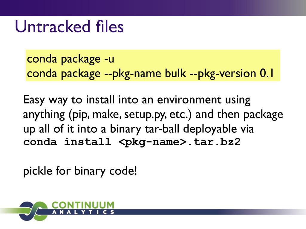 conda package -u conda package --pkg-name bulk ...