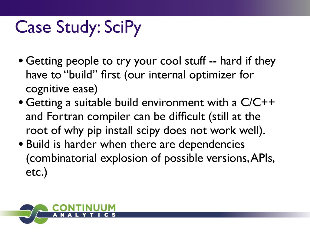 Case Study: SciPy	 