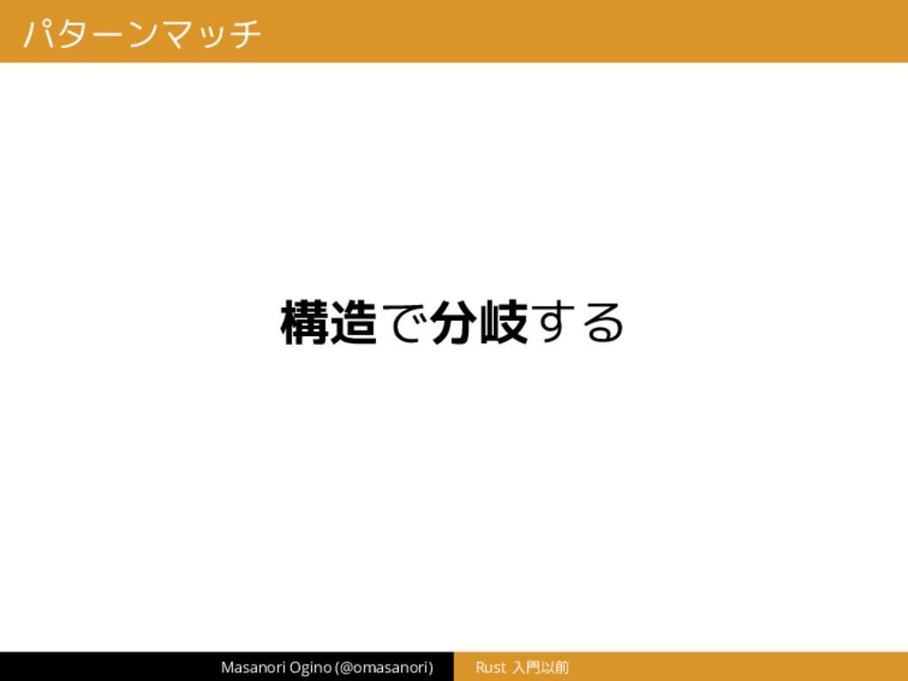 パターンマッチ 構造で分岐する Masanori Ogino (@omasanori) Rus...