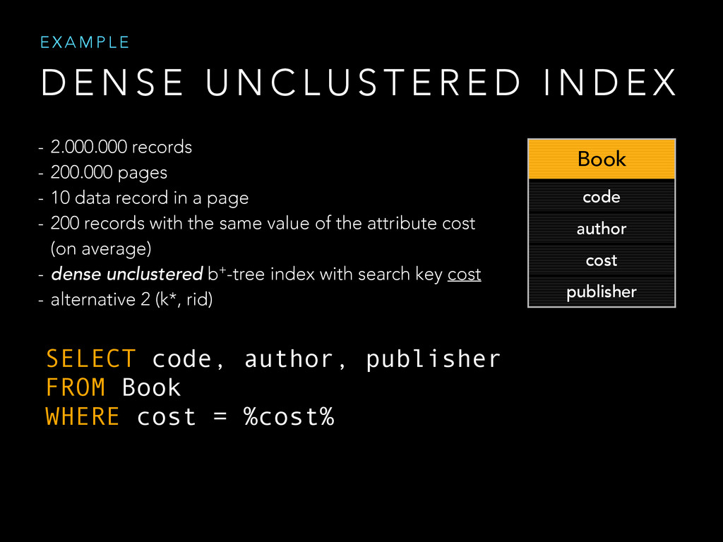 SELECT code, author, publisher FROM Book WHERE ...