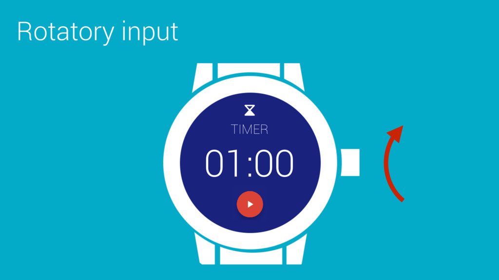 Rotatory input TIMER 01:00