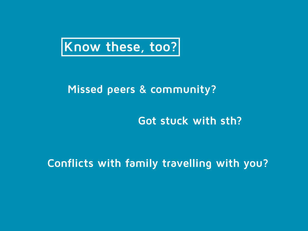 Know these, too? Conflicts with family travelli...