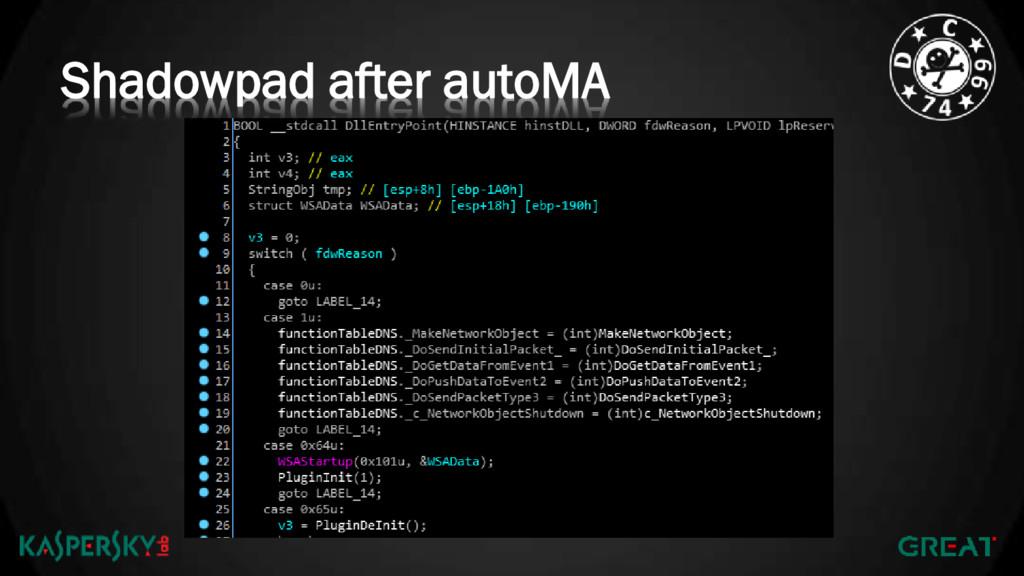Shadowpad after autoMA