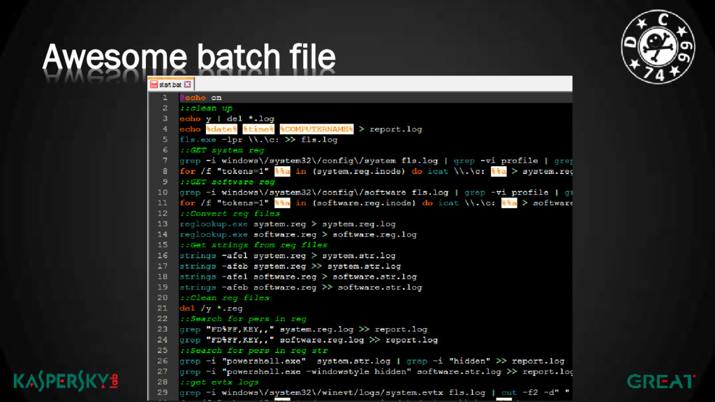 Awesome batch file