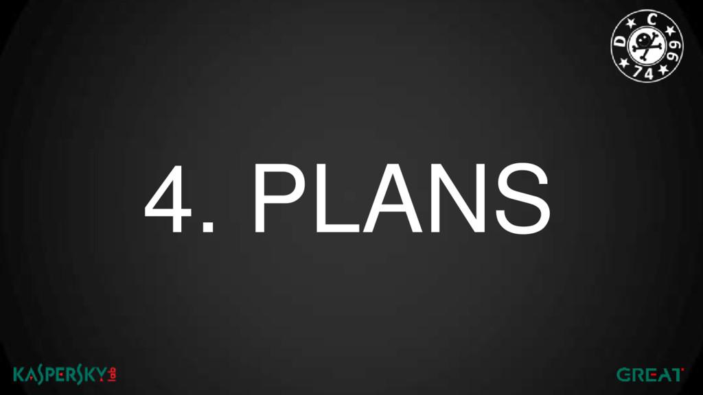 4. PLANS