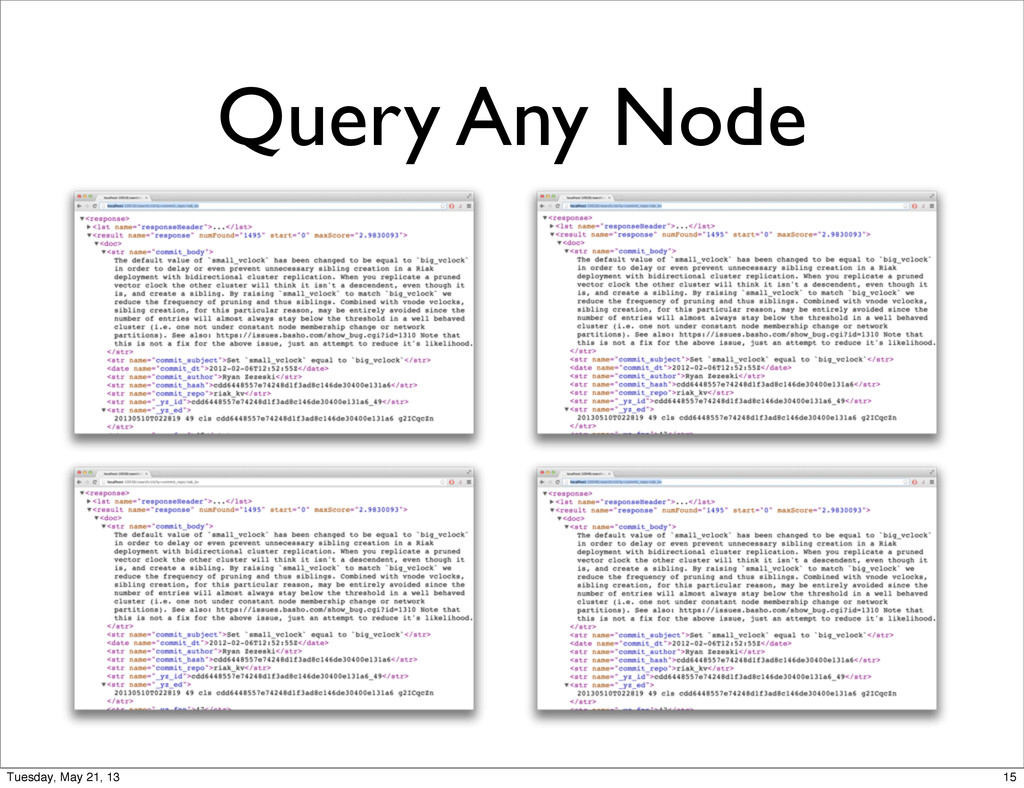 Query Any Node 15 Tuesday, May 21, 13