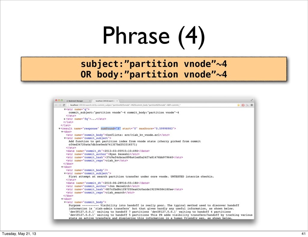 "Phrase (4) subject:""partition vnode""~4 OR body:..."