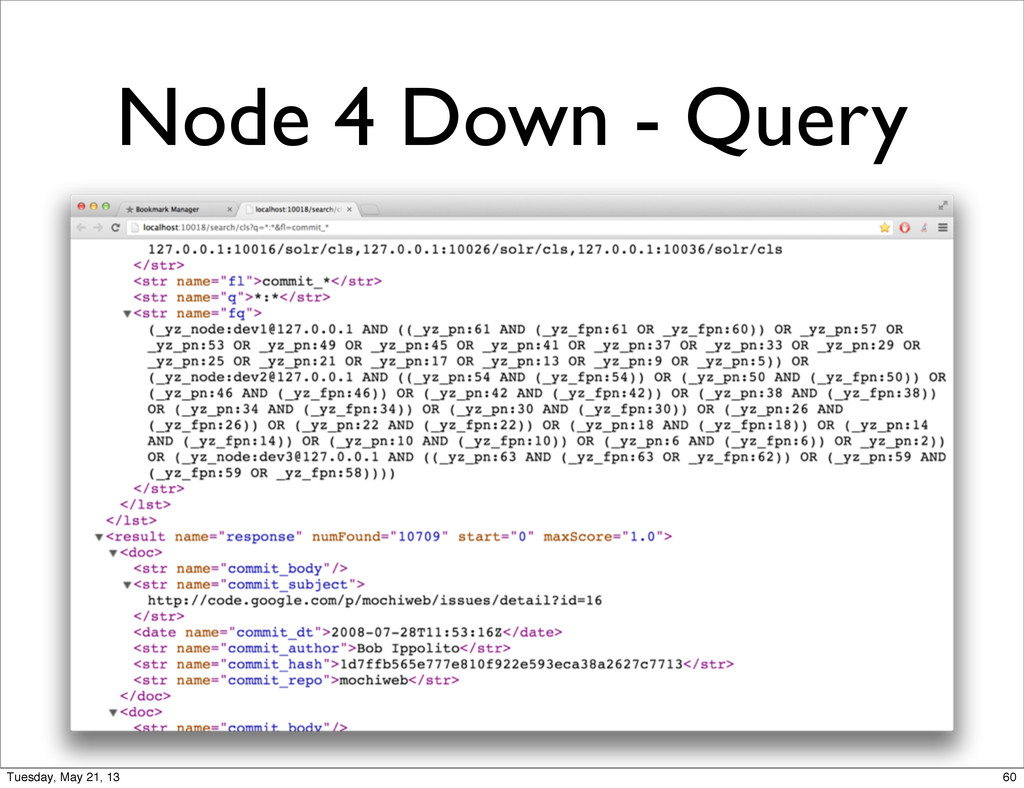 Node 4 Down - Query 60 Tuesday, May 21, 13