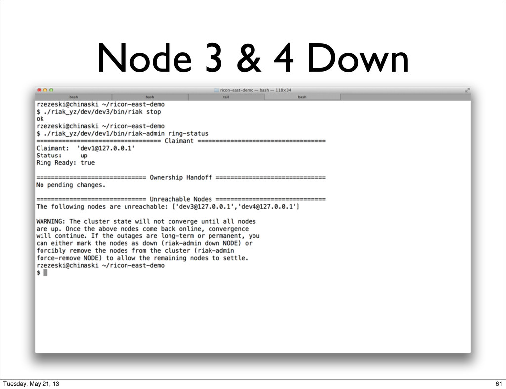 Node 3 & 4 Down 61 Tuesday, May 21, 13