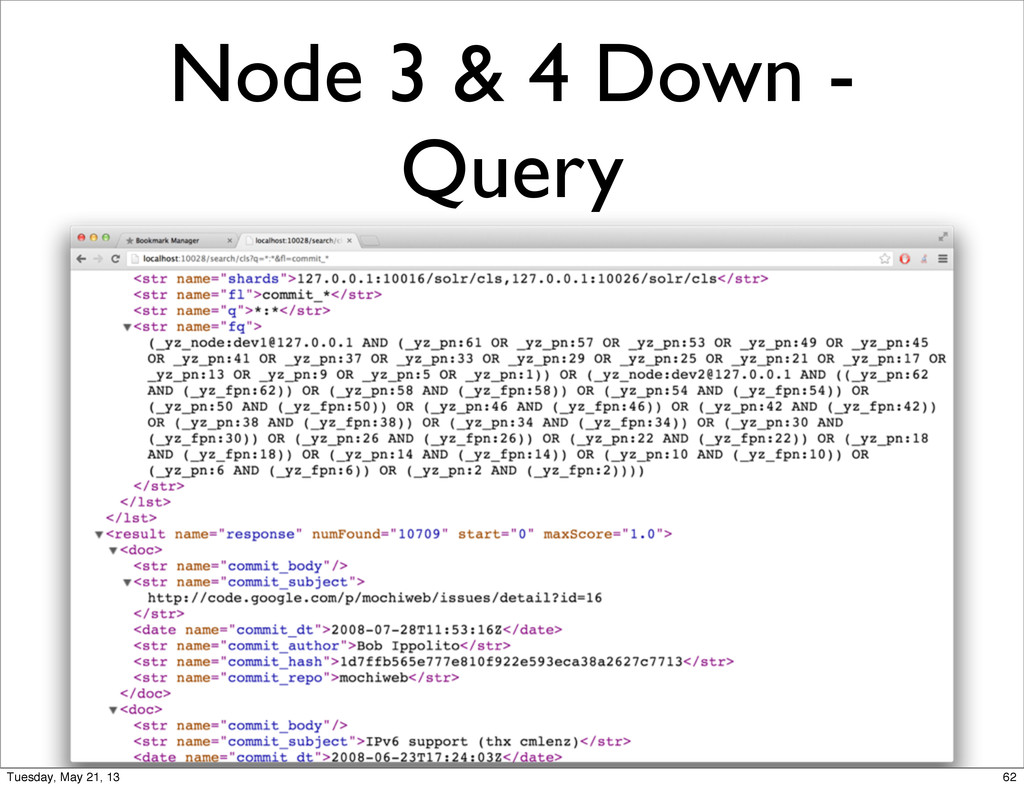 Node 3 & 4 Down - Query 62 Tuesday, May 21, 13