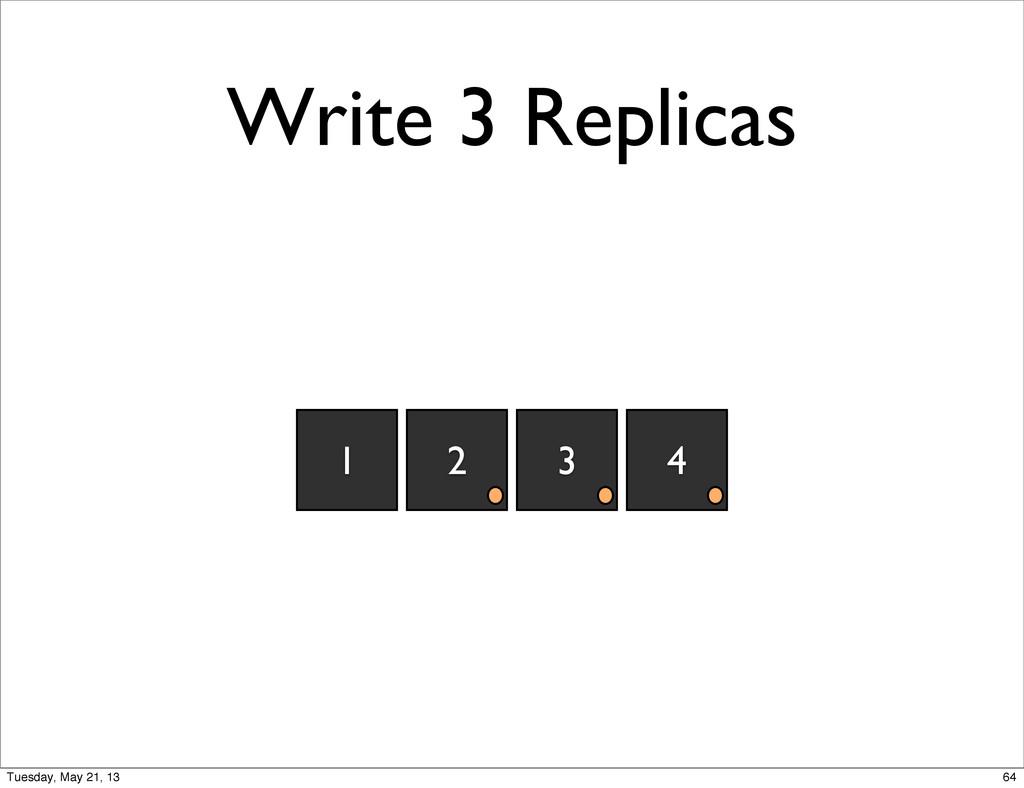 Write 3 Replicas 2 3 4 1 64 Tuesday, May 21, 13