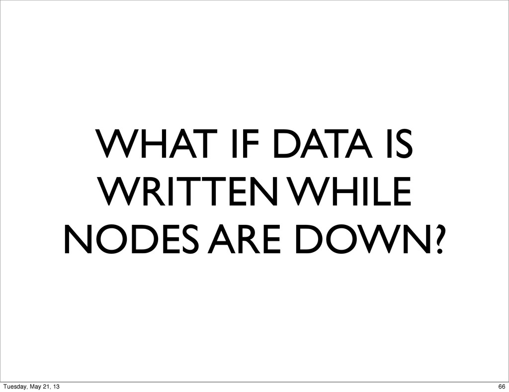 WHAT IF DATA IS WRITTEN WHILE NODES ARE DOWN? 6...
