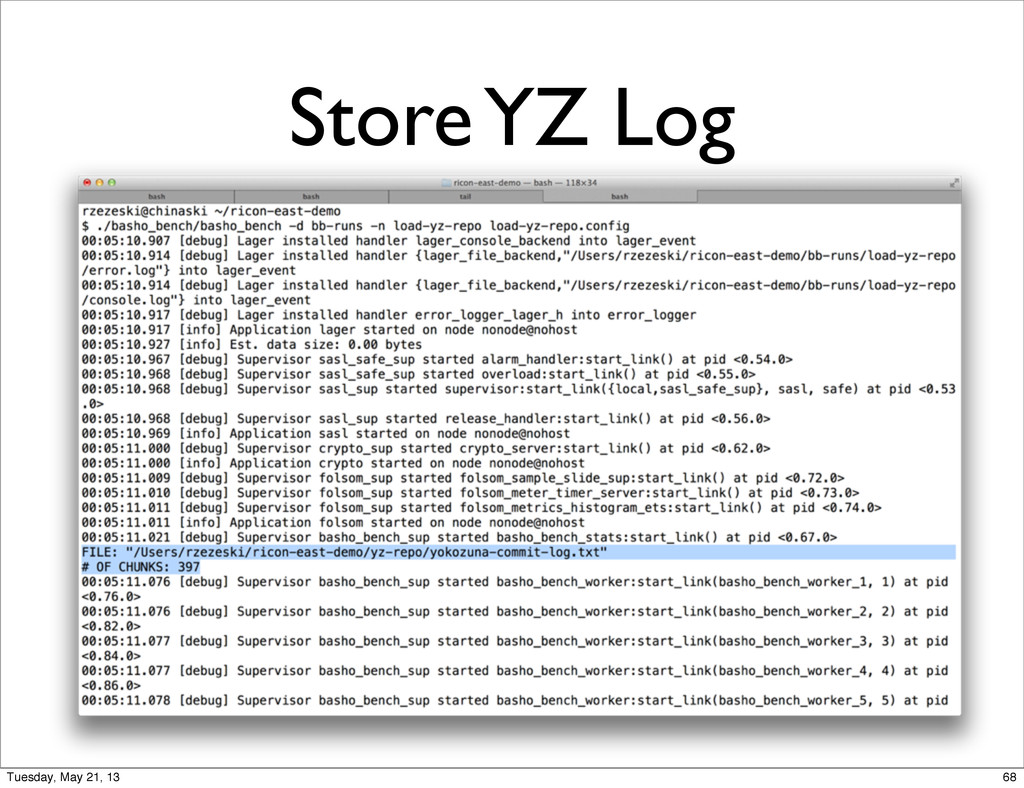 Store YZ Log 68 Tuesday, May 21, 13