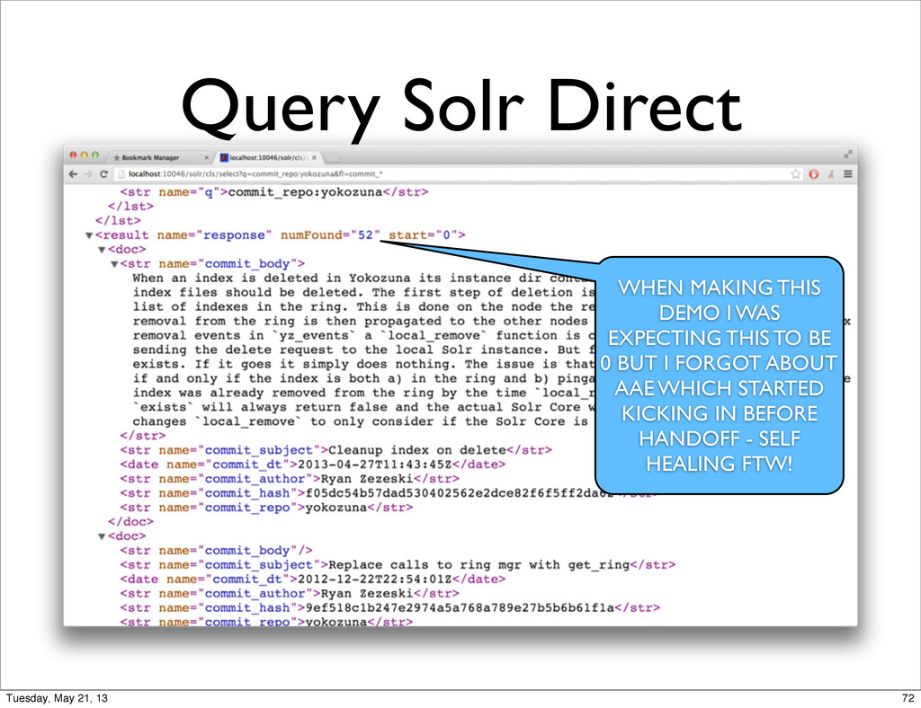 Query Solr Direct WHEN MAKING THIS DEMO I WAS E...