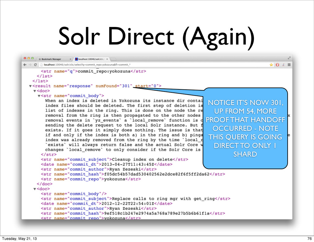 Solr Direct (Again) NOTICE IT'S NOW 301, UP FRO...