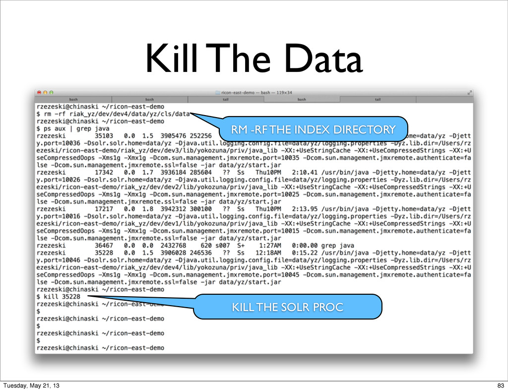 Kill The Data RM -RF THE INDEX DIRECTORY KILL T...