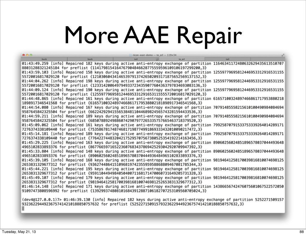 More AAE Repair 88 Tuesday, May 21, 13