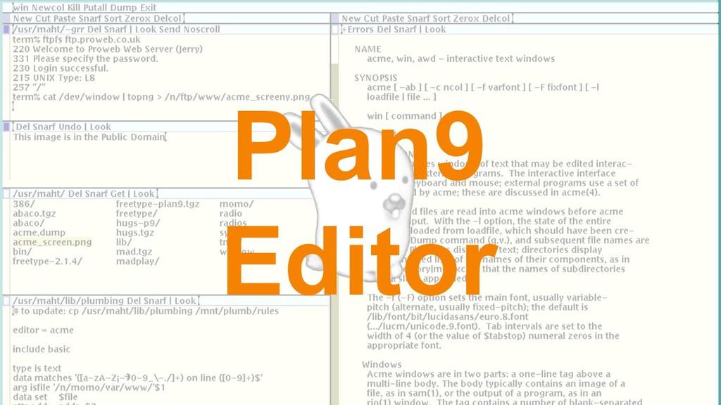 Plan9 Editor