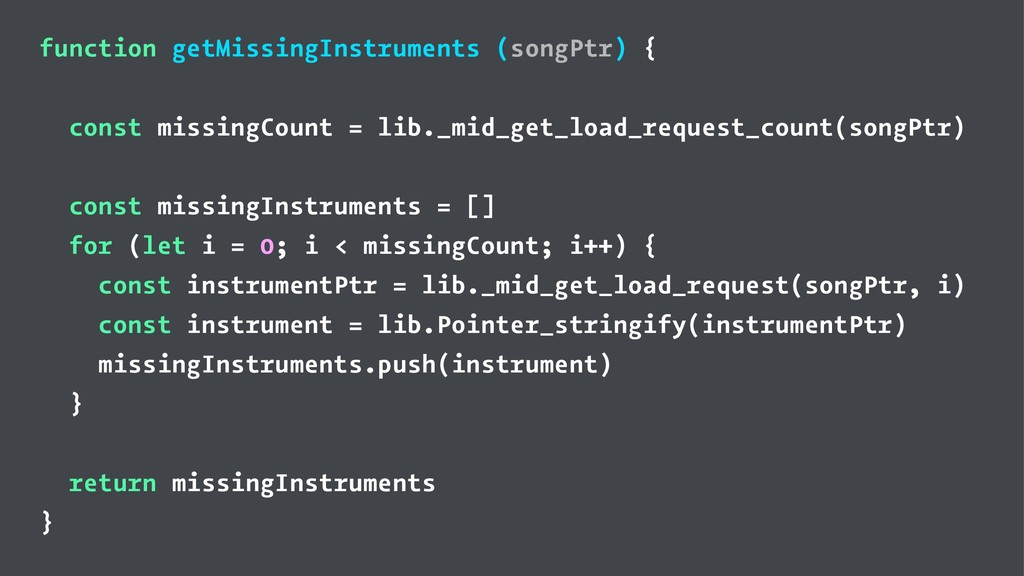 function getMissingInstruments (songPtr) { cons...