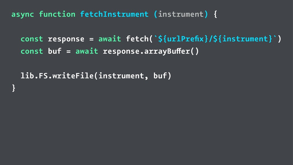 async function fetchInstrument (instrument) { c...