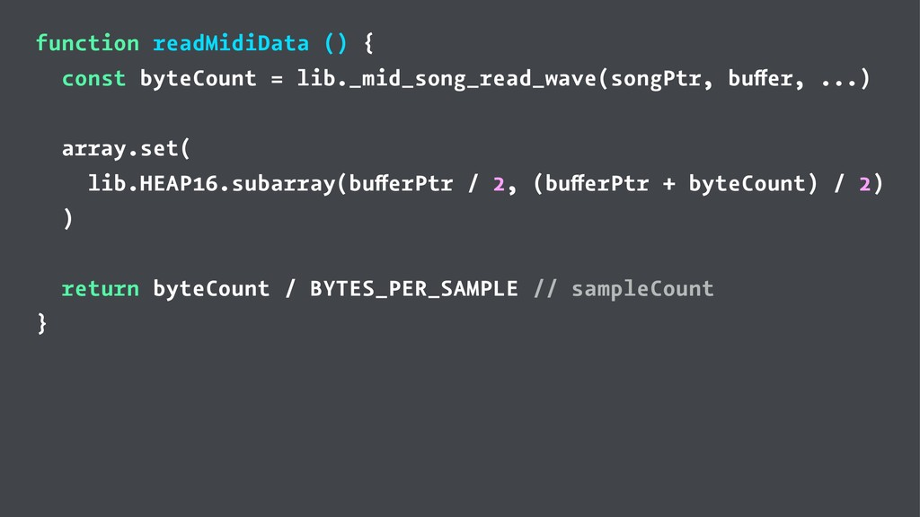 function readMidiData () { const byteCount = li...