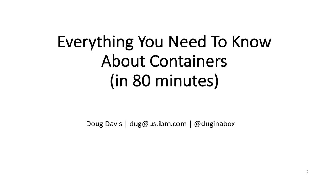 Everything You Need To Know About Containers (i...
