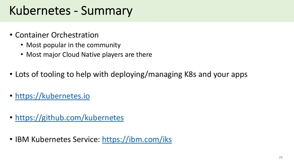 Kubernetes - Summary • Container Orchestration ...