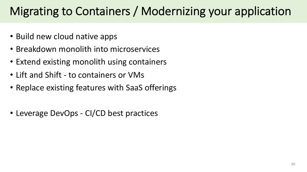 Migrating to Containers / Modernizing your appl...