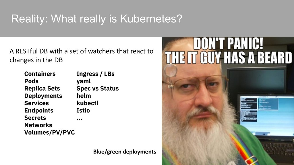 Reality: What really is Kubernetes? A RESTful D...