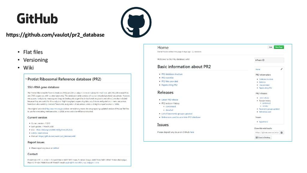 https://github.com/vaulot/pr2_database • Flat f...