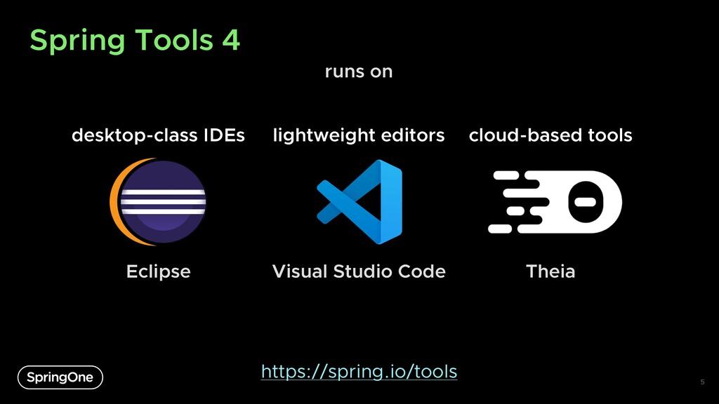 Spring Tools 4 5 desktop-class IDEs lightweight...
